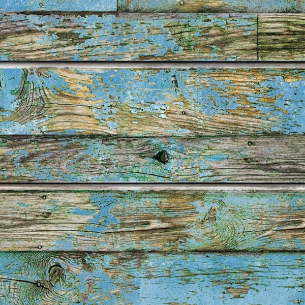 Old Blue Painted Wood Slatwall Panel
