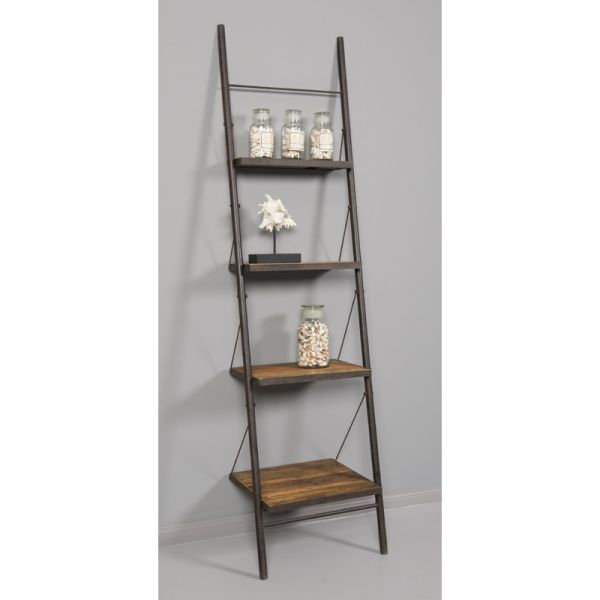 Loft Reclaimed Elmwood Leaning Bookshelf