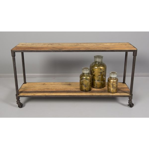 Loft Reclaimed Elmwood Console