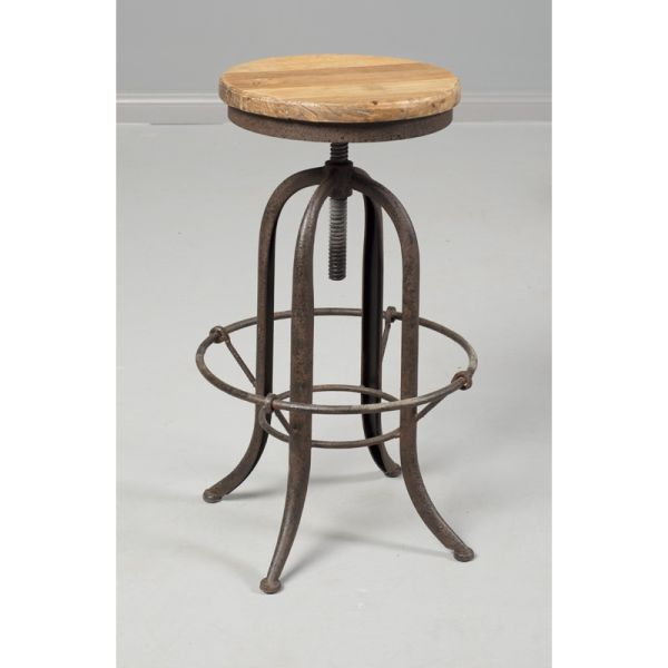 Loft Reclaimed Elmwood Adjustable Bar Stool