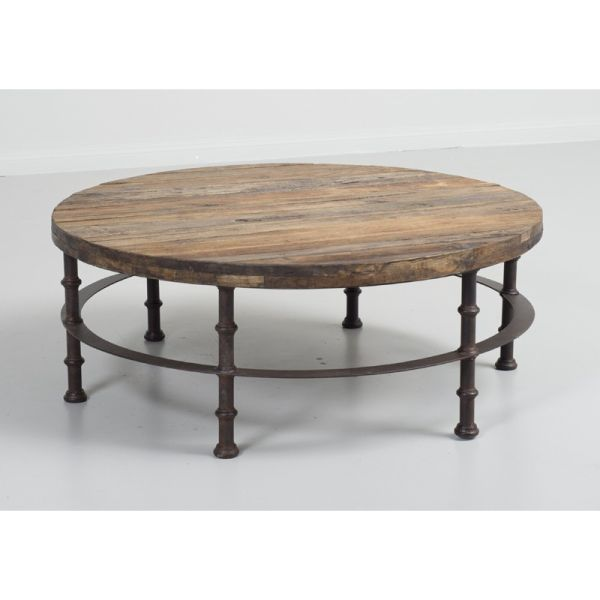Loft Reclaimed Elmwood Round Coffee Table D B Imports