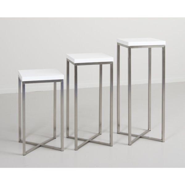 Moderne White Gloss Pedestal