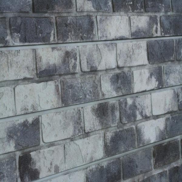 Gray Old Painted Brick Slatwall Panel