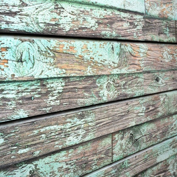 Old Green Painted Wood Slatwall Panel