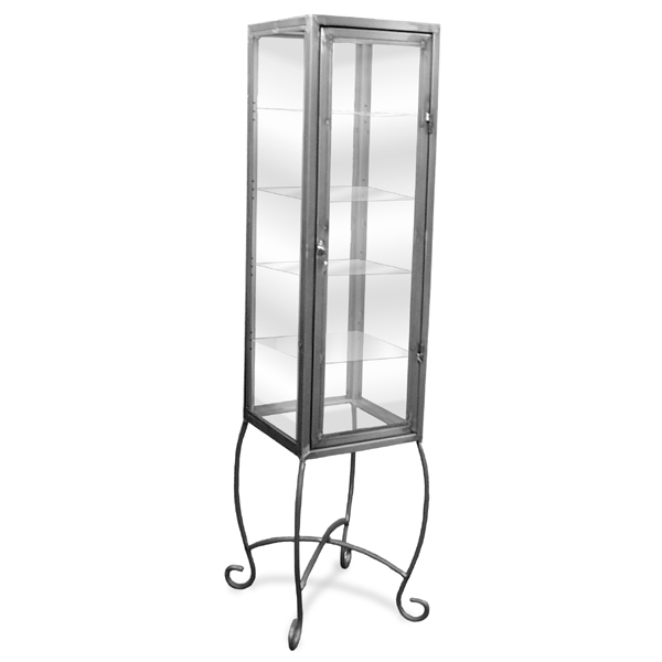 Raw Steel Tower Display Case