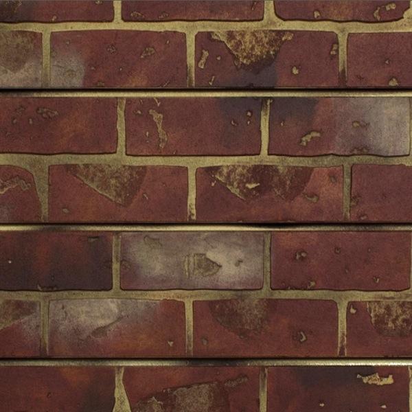 Red brick slatwall panel textured brick slot wall - Red brick wall panel ...
