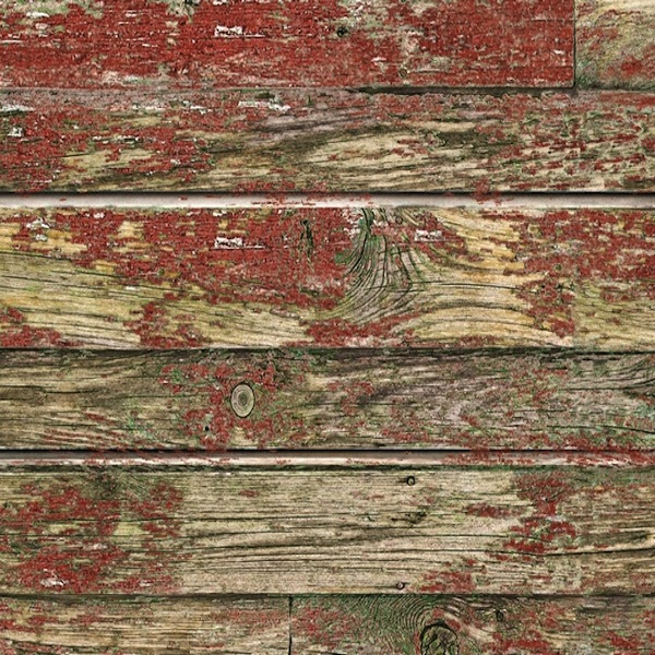 Old Red Painted Wood Slatwall Panel