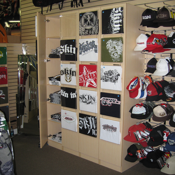 T Shirt Wall Cabinet Shirt Display Wall Fixture