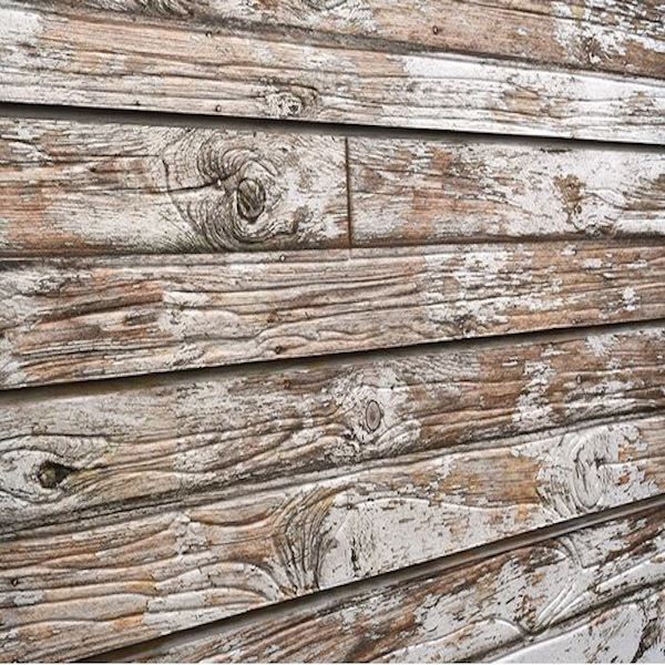 Old White Painted Wood Slatwall Panel