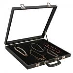 Black Portable Jewelry Display Case