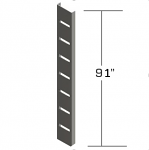 "91"" Metal Slat Strips"