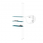 Ceiling to Floor Cable Extension Kit for 3 Glass Shelves