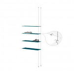 Ceiling to Floor Cable Extension Kit for 4 Glass Shelves