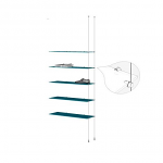 Ceiling to Floor Cable Extension Kit for 5 Glass Shelves