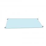 4 Clamp Set for Glass Shelf
