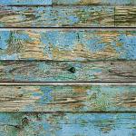 Old Blue Painted Wood Slatwall Panel