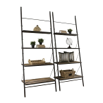 Loft Reclaimed Elmwood Large Leaning Bookshelf