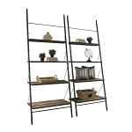Loft Reclaimed Elmwood Large Leaning Bookshelf