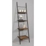 Loft Reclaimed Elmwood Leaning Bookshelf