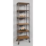Loft Reclaimed Elmwood Curio And Bookshelf