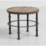 Loft Reclaimed Elmwood Round End Table