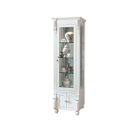 European Double Sided Curio With Glass Door