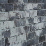 Gray Old Painted Brick Slatwall Panel