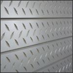 Diamond Plate Slatwall Panel