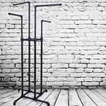 Industrial Pipeline 4 Way Clothing Rack