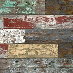 Mixed Old Painted Wood WalTex Panel