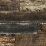 Mixed Reclaimed Natural Wood Slatwall Panel