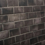 Gray Brick Slatwall Panel