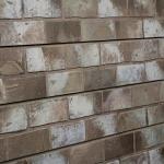 Taupe Brick Slatwall Panel