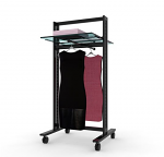 Vertik - Dark Brown Stand for Clothing and Shelving Kit, 24""