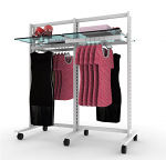 "Vertik - Stand Clothing and Shelving Kit, 2 Sections of 24"" White"