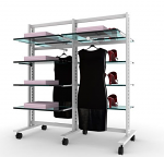 Vertik - Stand Clothing and Shelving Kit, 2 Sections of 24""