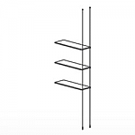 Floor to Ceiling Cable Extension Kit for 3 Glass Shelves
