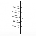 5 Shelf Palo Display System Extension