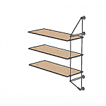 Wall Cable Extension Kit for 3 Wood Shelves