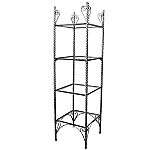 4 Level Raw Steel Etagere