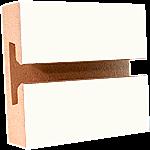 LPL White Slatwall Panel