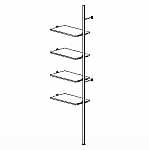 4 Shelf Palo Display System Extension