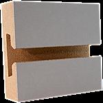 LPL Medium Gray Slatwall Panel