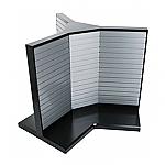 3-Sided Steel Slatwall Display