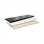 "13"" Deep Plastic Bullnose Shelves (Set of 4)"
