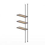 Floor to Ceiling Cable Extension Kit for 3 Wood Shelves