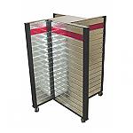 Steel Slatwall Pinwheel Display