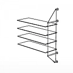 Wall Cable Extension Kit for 4 Glass Shelves