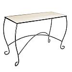 Raw Steel Scroll Leg Table