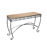 Raw Steel Scroll Table